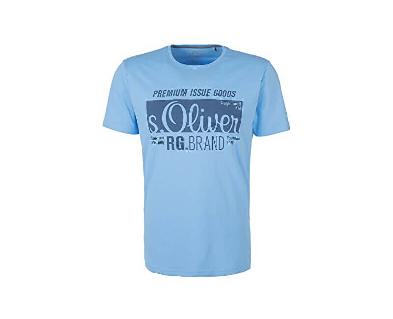 s.Oliver Pánské triko 13.901.32.5206.5316 Spring Blue