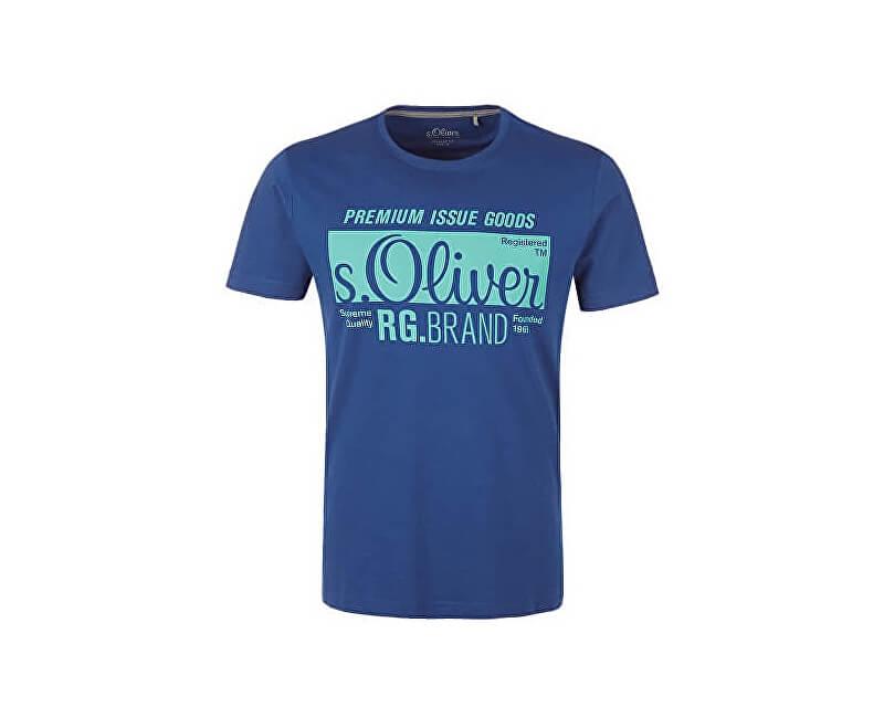 s.Oliver Pánské triko 13.901.32.5206.5612 Lapis Blue
