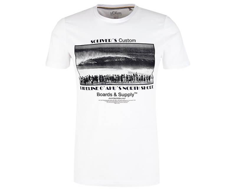 S.Oliver Pánske tričko 13.906.32.4455.01A1 White