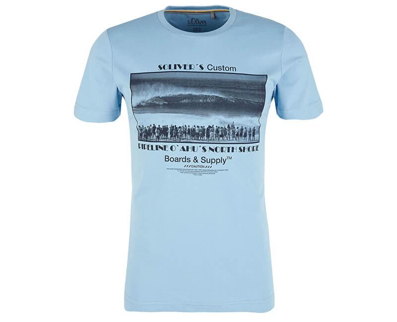 S.Oliver Pánske tričko 13.906.32.4455.5190 Blue Mist