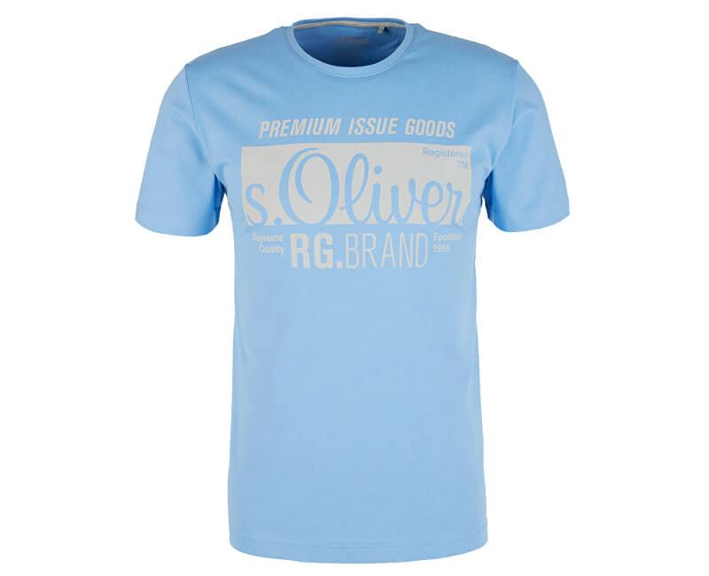 S.Oliver Pánske tričko 13.906.32.5206.5330 Holiday Blue