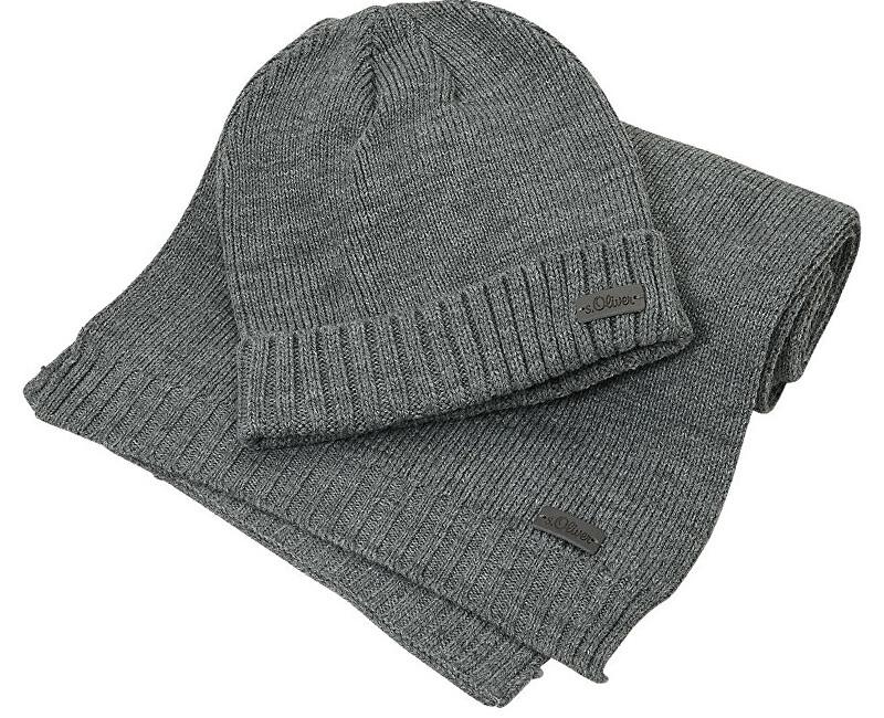 4dcac6904 S.Oliver Pánsky set zimné čiapky a šály 97.811.91.3750.9730 Pewter Grey