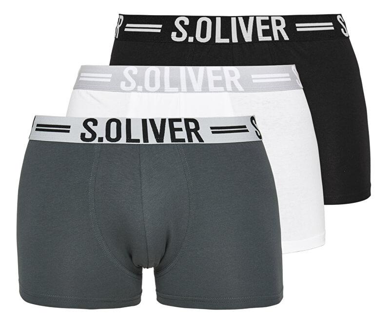 s.Oliver Sada pánských boxerek 26.899.97.4229.12B9 Black&Grey&White