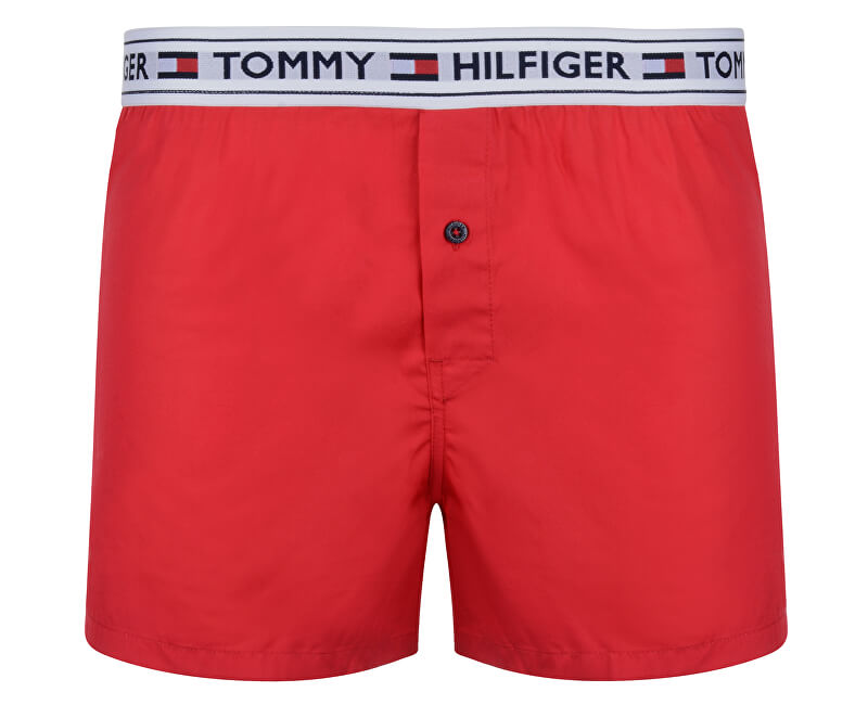 Tommy Hilfiger Trenírky Woven Boxer Tango Red UM0UM00517-611
