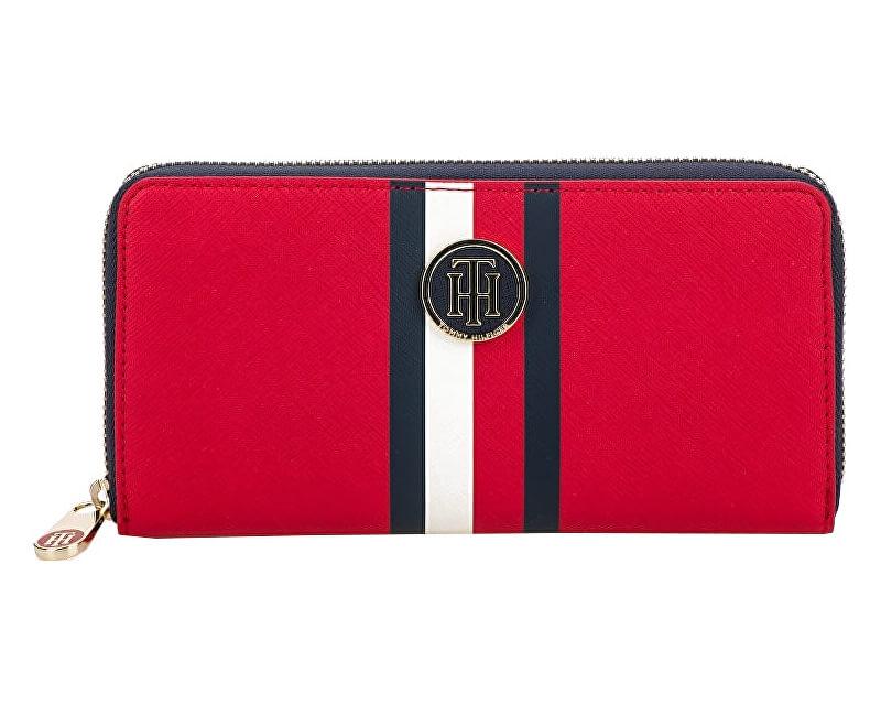 Tommy Hilfiger Dámská peněženka Honey Lrg Za Wallet Red Corp Stripe Novinka a0bbb2759f