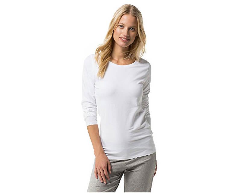 Tommy Hilfiger Dámské triko Cotton Iconic Sleepwear CN Tee LS 1487904677-100 White