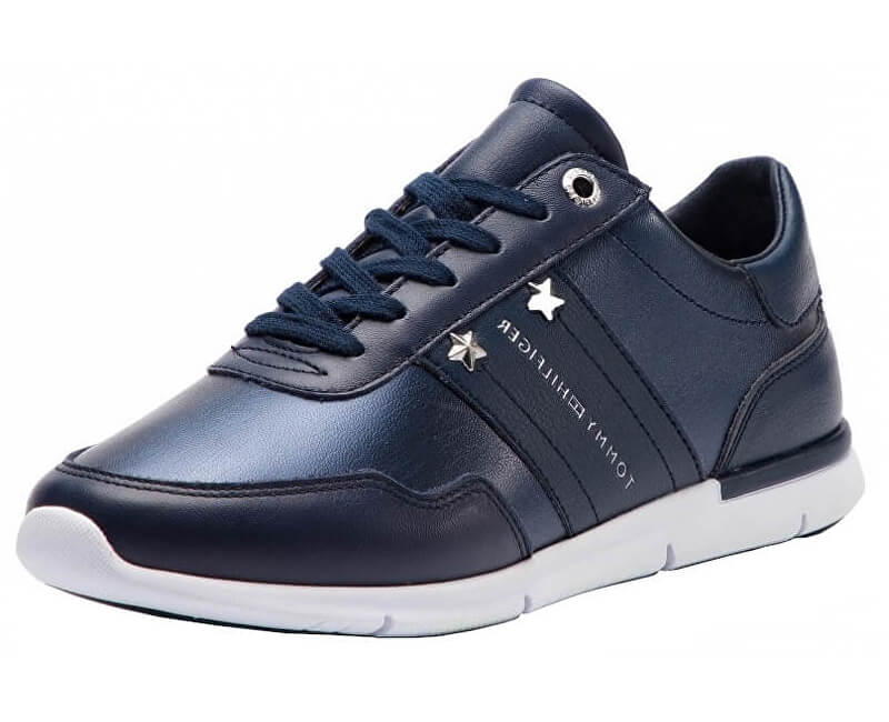 Tommy Hilfiger Dámské tenisky Tommy Essential Leat Dark Blue FW0FW03688-406