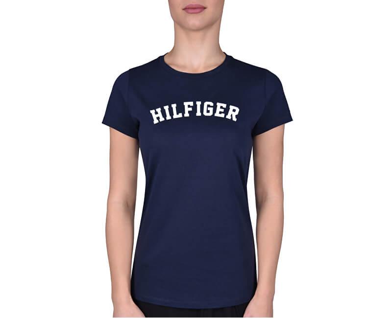 Tommy Hilfiger Dámské triko Cotton Iconic Logo SS Tee Print UW0UW00091-416 Navy Blazer