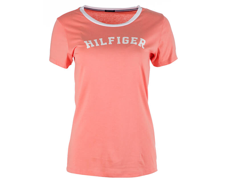 Tommy Hilfiger Dámske tričko Ss Tee Print UW0UW00091-661 Light orange 6f3a1aa422a