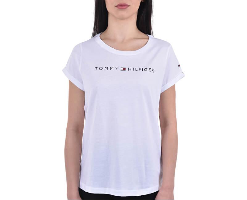 Tommy Hilfiger Dámské triko Tommy Original Rn Tee Ss Logo UW0UW01618-100 White