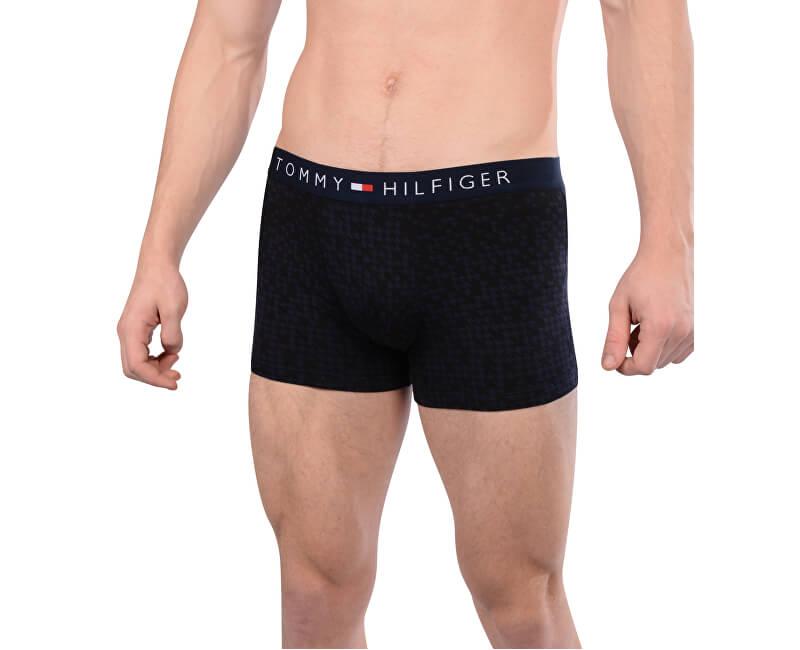Tommy Hilfiger Pánské boxerky Cotton Icon Trunk Small Houndstooth UM0UM00389-416 Navy Blazer