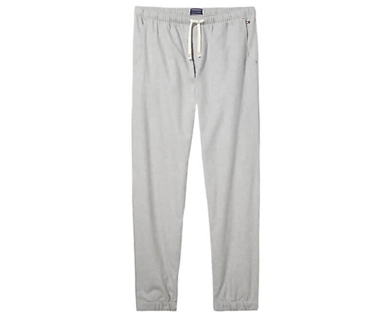 Tommy Hilfiger Pánské kalhoty Authentic & Fleece Mix Woven Cuffed Pant UM0UM00414-406 Indian Teal