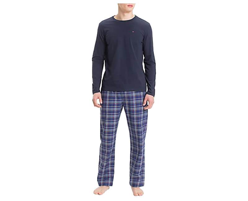 c992471d434 Tommy Hilfiger Pánske pyžamo Cotton Icon Woven Set Ls Navy Blaze r    Mazzarino Blue UM0UM01003