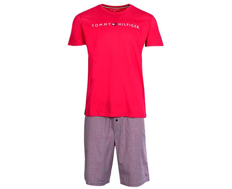 599f4da858 Tommy Hilfiger Férfi pizsama Wowen Set Ss Gingham Tango Red/Tango Red  UM0UM00696-099