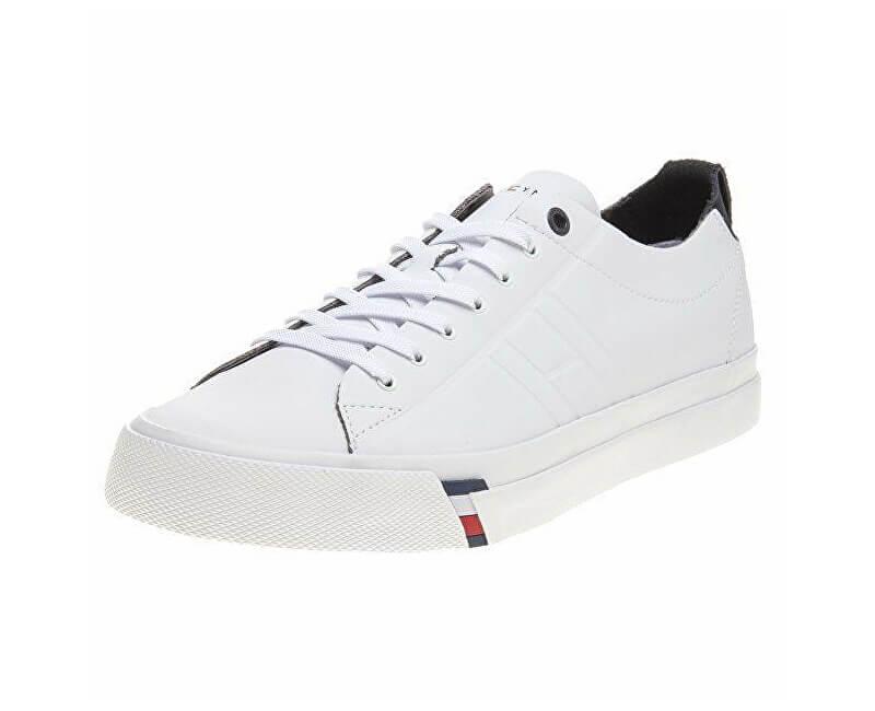 Tommy Hilfiger Pánské tenisky Corporate Clean Leat White FM0FM01214-100