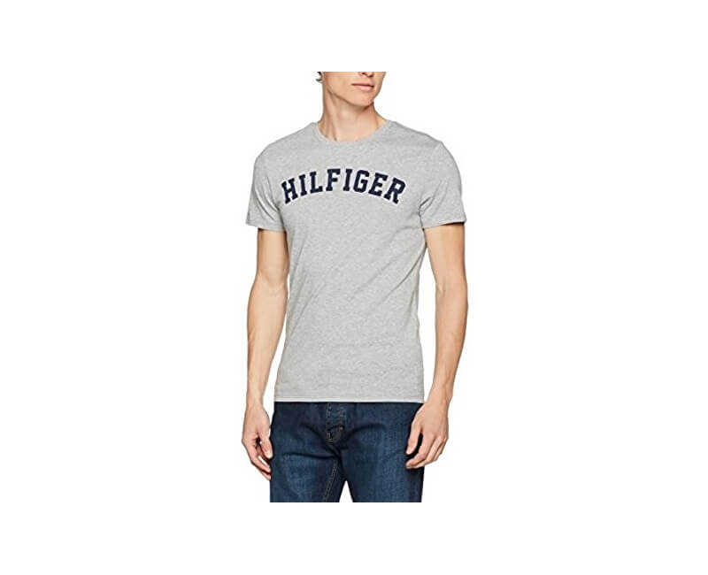 Tommy Hilfiger Pánské triko Cotton Icon SS Tee Logo UM0UM00054-004 Grey Heather