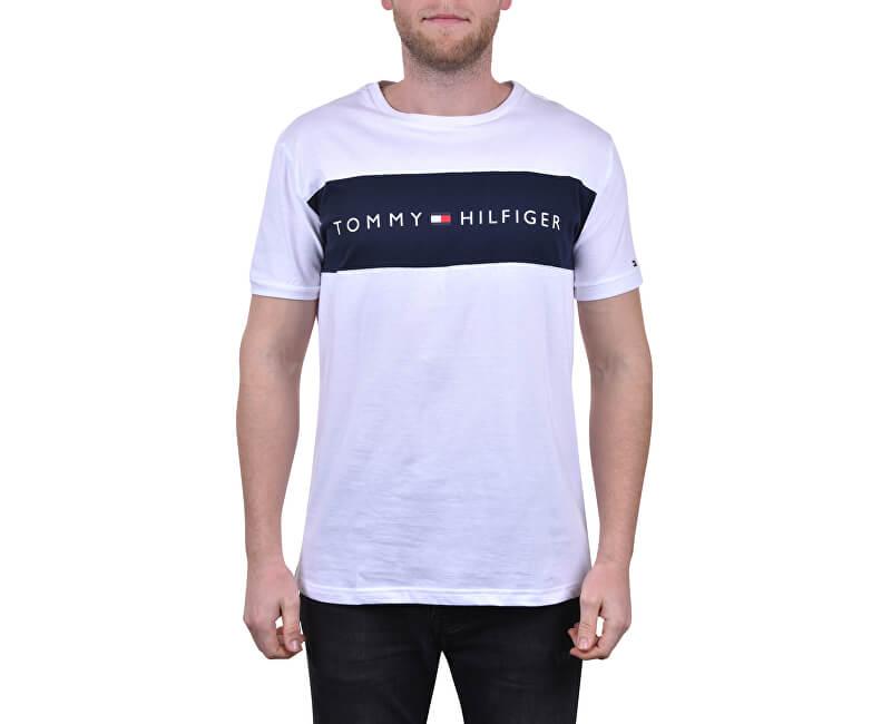 Tommy Hilfiger Pánské triko Tommy Original Cn Ss Tee Logo Flag UM0UM01170-100 White