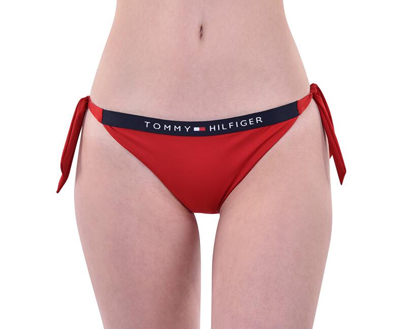 Tommy Hilfiger Plavkové kalhotky Cheeky Side Tie Biki Tango Red UW0UW01474-611