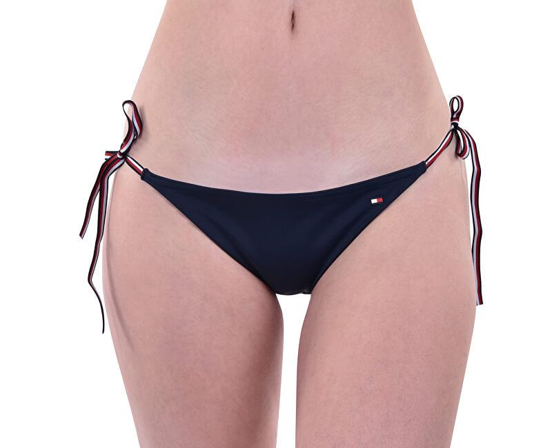 Tommy Hilfiger Plavkové kalhotky String Side Tie Biki Navy Blazer UW0UW01468-416