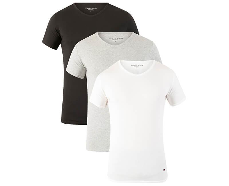 Tommy Hilfiger Tricou Premium Essentials Vn Tee Ss 3 Pack 2S87903767-004 Black/Grey Heather/White