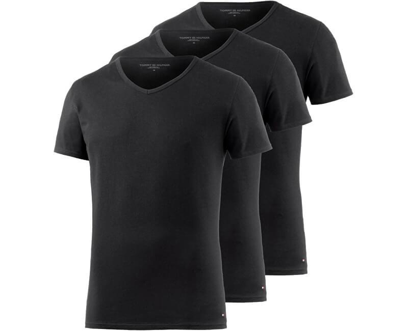 Tommy Hilfiger Sada pánskych trik Premium Essentials Vn Tee Ss 3 Pack 2S87903767-990 Black