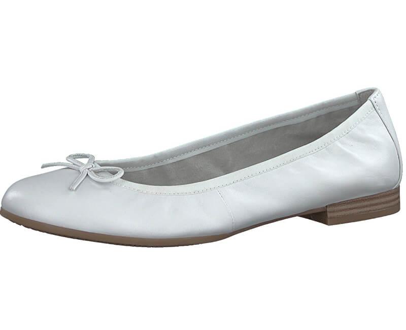 Tamaris Dámské baleríny 1-1-22116-20-127 White Leather