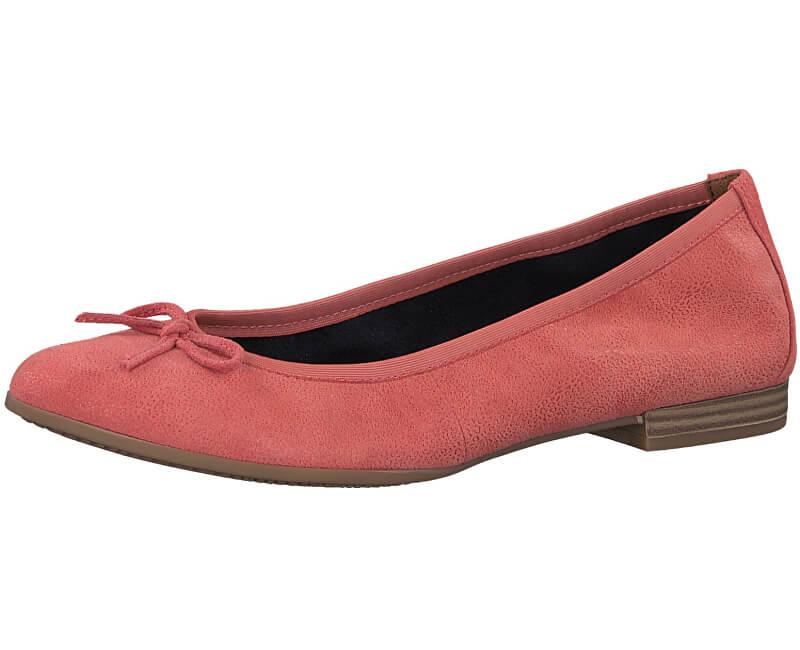 Damen Ballerinas 1 1 22116 20 562 Coral Suede