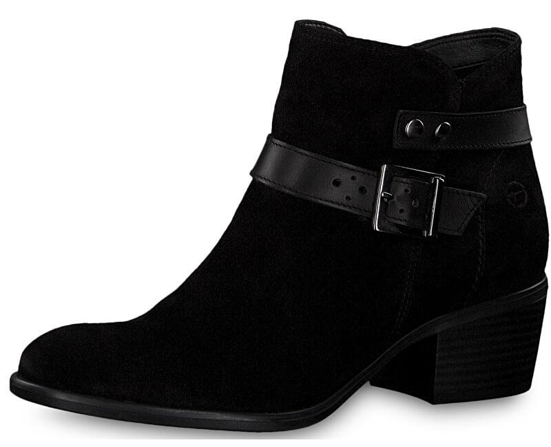 Tamaris Dámské kotníkové boty 1-1-25010-21-007 Black Uni