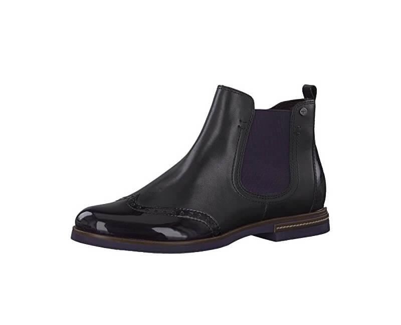 Damen Ankle Boots 1 1 25027 31 054 Black Pflaume
