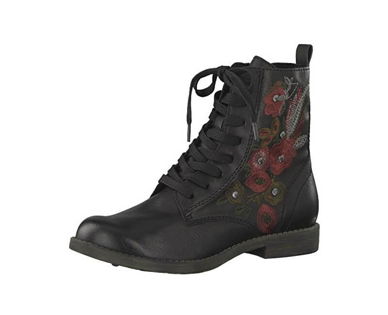 d25403d0ada9 Tamaris Dámské kotníkové boty 1-1-25114-21-098 Black Comb Doprava ...