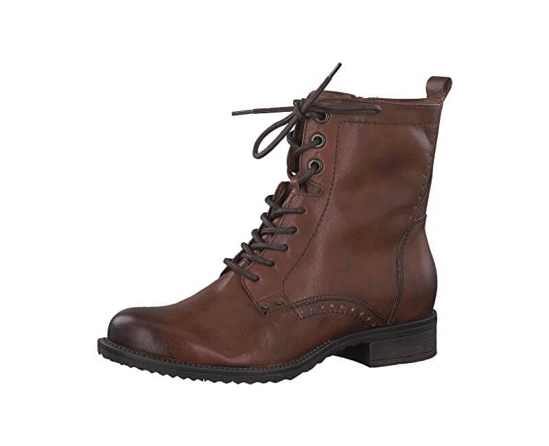 Tamaris Dámske členkové topánky 1-1-25217-21-305 Cognac Doprava ... ba8f5c23648