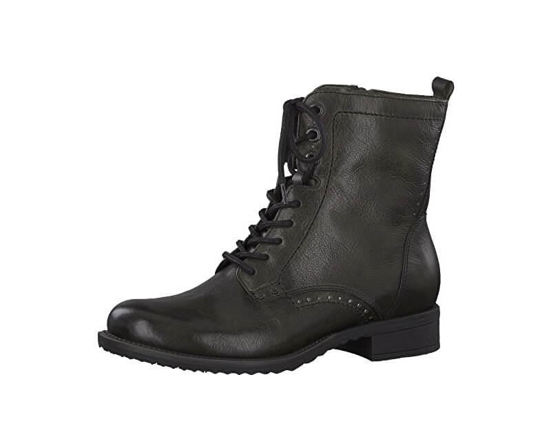 Tamaris Dámské kotníkové boty 1-1-25217-21-713 Dark Olive