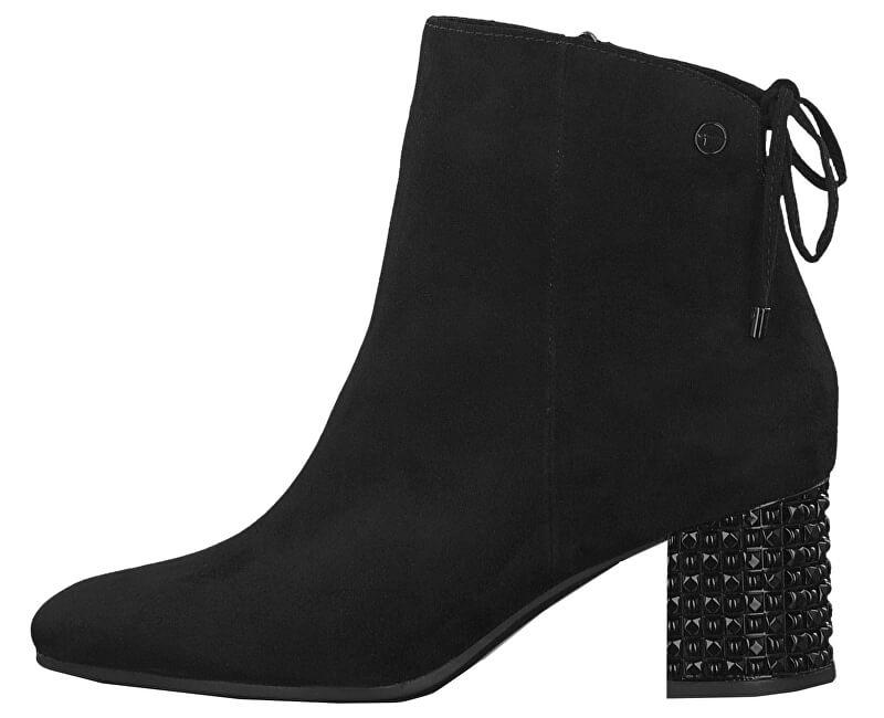 b10ef4a6ede6f Tamaris Dámske členkové topánky 1-1-25318-23-001 Black Doprava ...