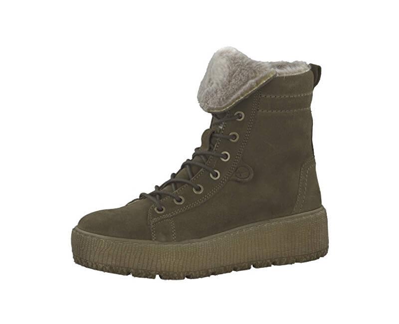 055ccf949b Tamaris Dámske členkové topánky 1-1-26265-21-722 Olive ...