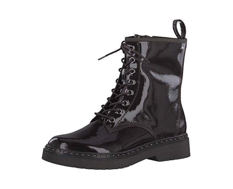 537768fecf Tamaris Dámske členkové topánky 1-1-26298-31-580 Bordeaux Pat ...