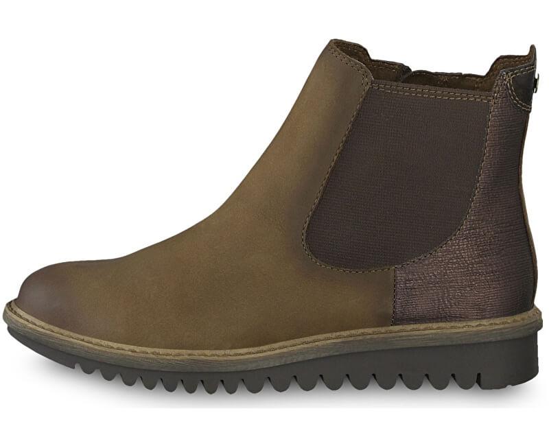 41860e164ff1 Tamaris Dámske členkové topánky 1-1-26409-31-394 Espresso comb ...