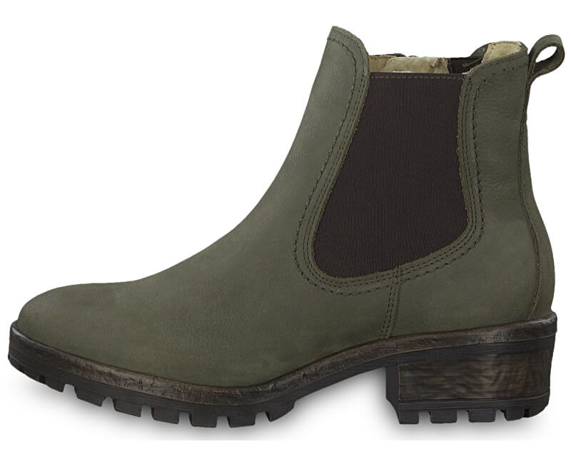 Tamaris Dámské kotníkové boty 1-1-26420-31-722 Olive