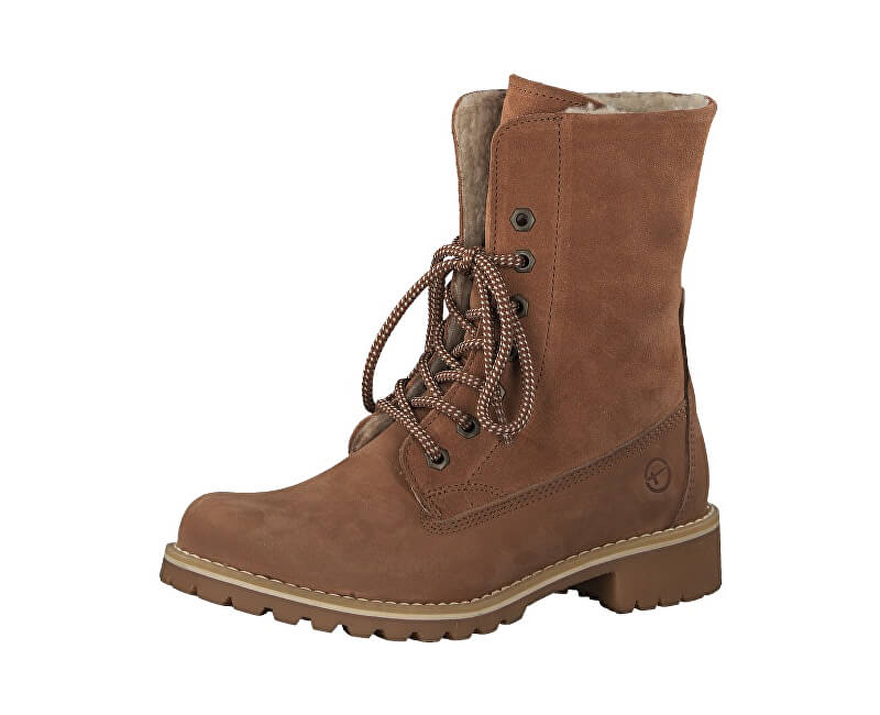 68011f87e0aec Tamaris Dámske členkové topánky 1-1-26443-21-540 Brick | Vivantis.sk ...