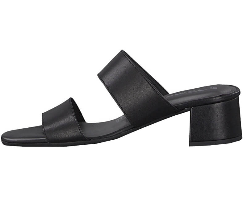 Tamaris Dámske šľapky 1-1-27218-22-003 Black Leather
