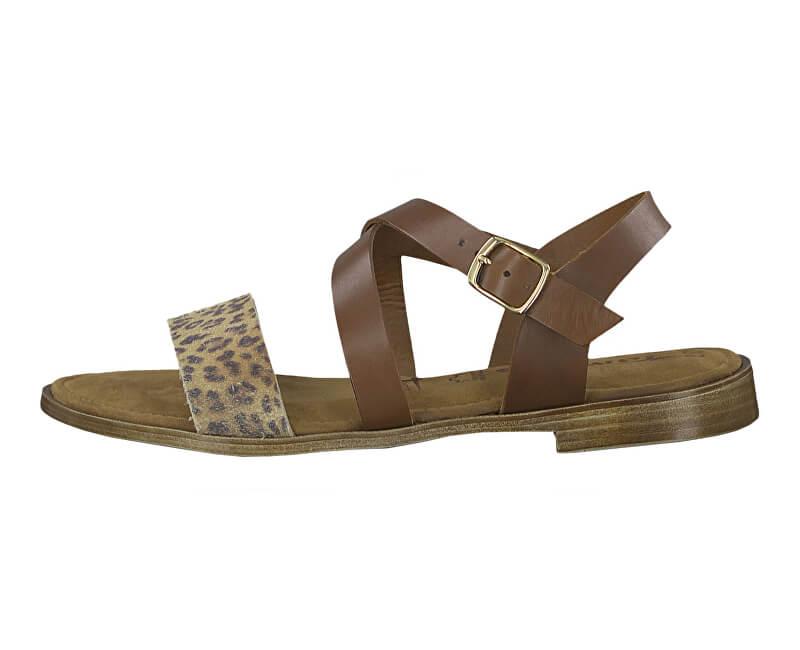 Tamaris Dámske sandále 1-1-28183-32 392 Cognac Comb