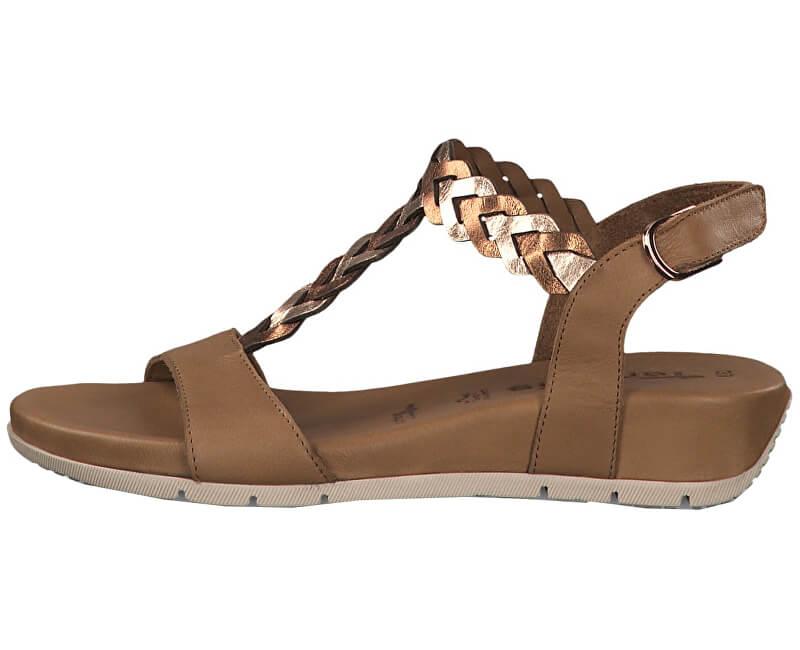 Tamaris Dámske sandále 1-1-28231-22-380 Cogn/Rose Met