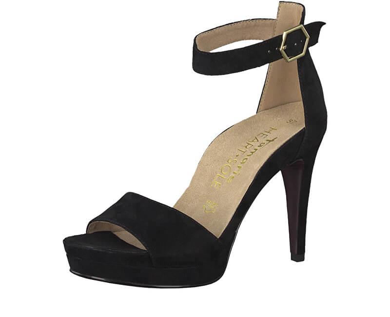 Tamaris Dámské sandále 1-1-28377-22-004 Black Suede