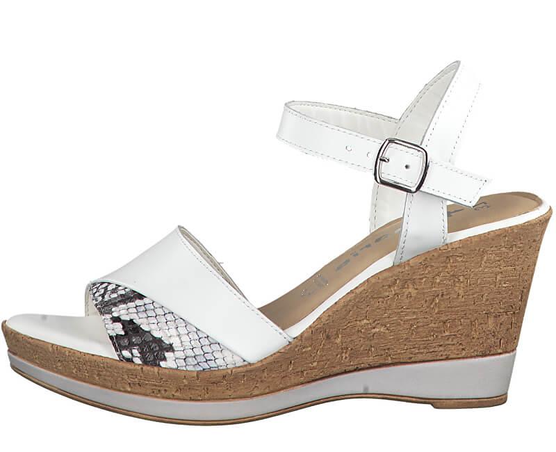 Tamaris Dámske sandále 1-1-28382-32 128 White/Snake