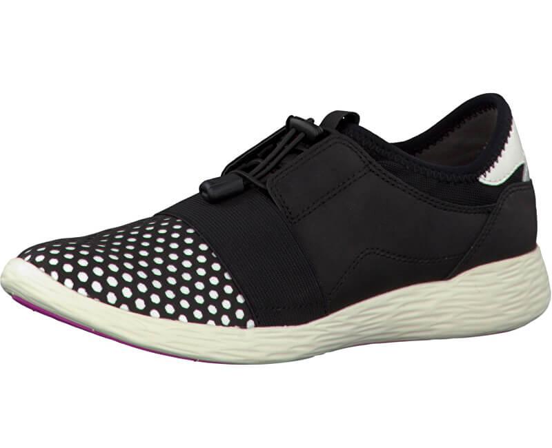 72fa203d22 Tamaris Elegáns női cipő 1-1-23722-28 fekete / fehér | Vivantis.hu ...