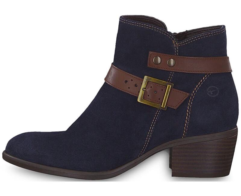 e26577f8cb Tamaris Elegantní dámské kotníkové boty 1-1-25010-21-833 Navy  ...