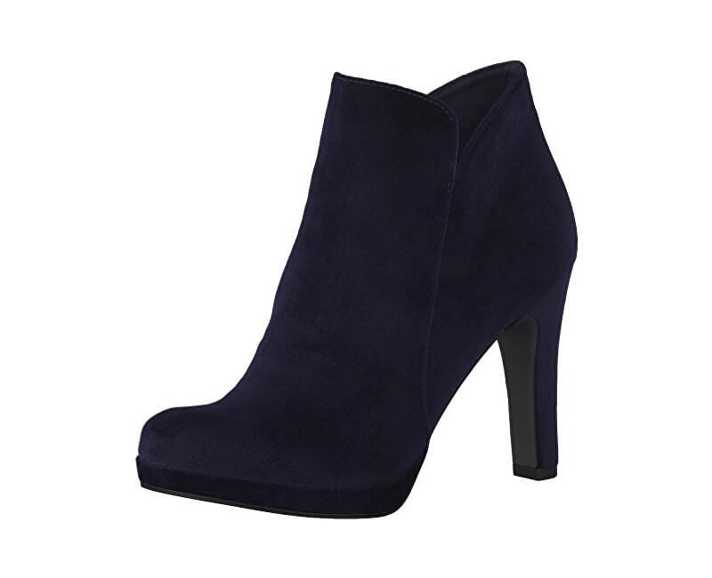 Tamaris Elegantní dámské kotníkové boty 1-1-25046-29-846 Navy Velvet