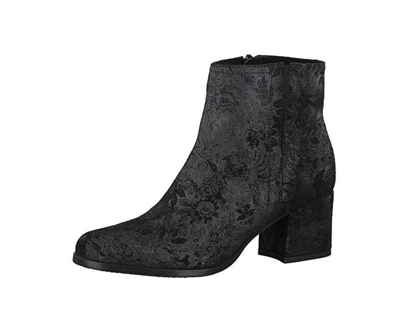 Tamaris Elegantní dámské kotníkové boty 1-1-25063-39-006 Black Struct.