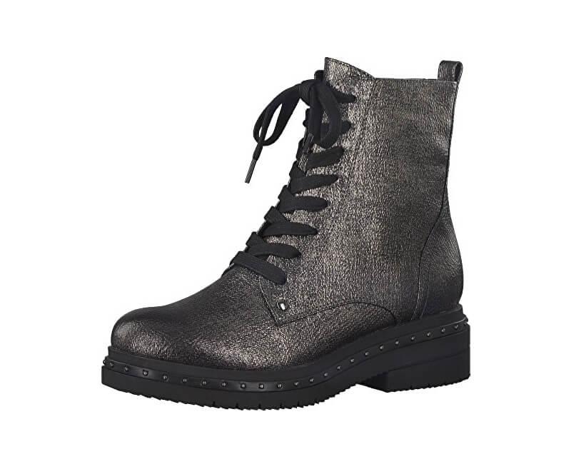 dd61bad7e65b Tamaris Elegantné dámske členkové topánky 1-1-25131-39-949 Platinum Stru ...