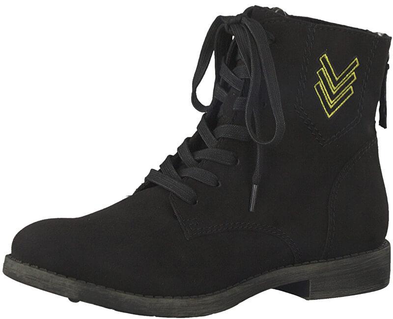 Tamaris Elegantní dámské kotníkové boty 1-1-25134-39-001 Black