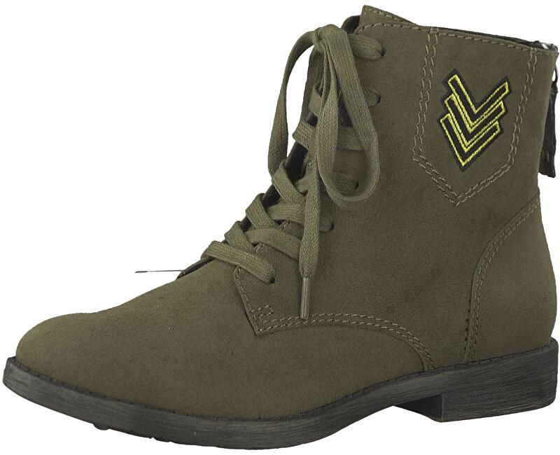 Tamaris Elegantní dámské kotníkové boty 1-1-25134-39-722 Olive